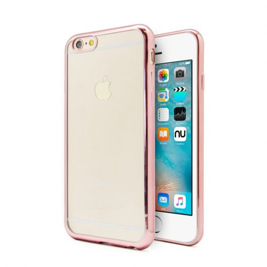 Nueboo Funda Gel TPU Borde Rosa Dorado para iPhone 6/6S