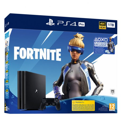 Pack PS4 Pro 1TB + Lote Neo Versa Fortnite + 2000 paVos