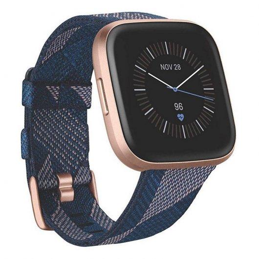 Fitbit Versa 2 Edición Especial Textil Azul Marino/Rosa Reacondicionado