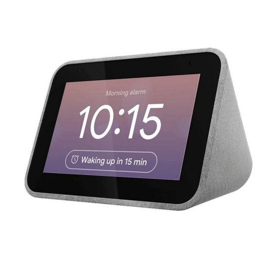 Lenovo Smart Clock Reloj Despertador Inteligente con Asistente de Google Gris