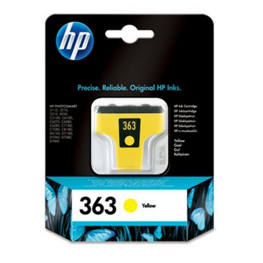 HP 363 Cartucho Tinta Original Amarillo