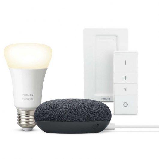 Pack Google Nest Mini Altavoz Inteligente + Philips Hue White
