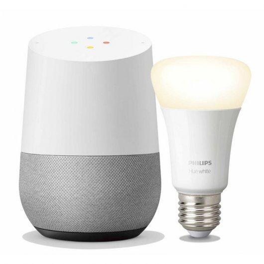 Pack Google Home Altavoz Inteligente + Philips Hue