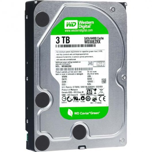 WD Green 3TB SATA3 64MB