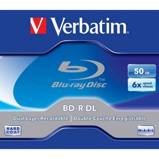 Verbatim Blu-Ray Disc Doble Capa 50GB 6x 5 Pack Jewel Case
