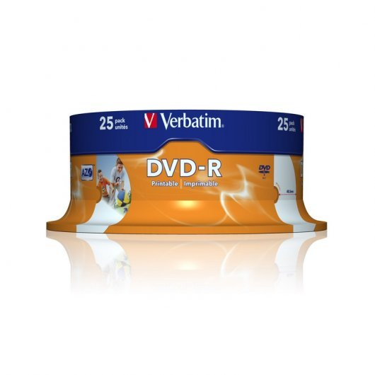 Verbatim DVD-R 16x 4.7GB Printable Tarrina 25 unds