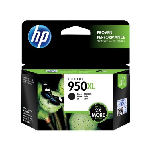 HP 950XL Cartucho Tintal Alta Capacidad Original Negro