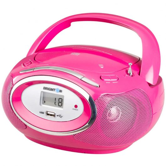 Brigmton W-410 Radio CD+USB Rosa