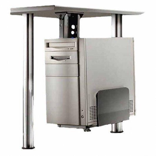 soporte para cpu bajo mesa negro