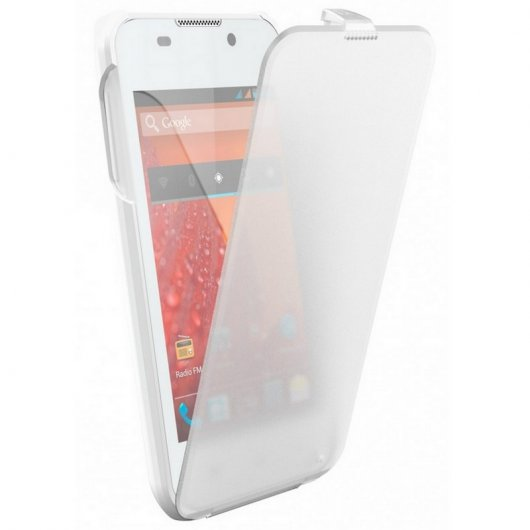 Bq Funda Second Skin Blanca para Aquaris 4