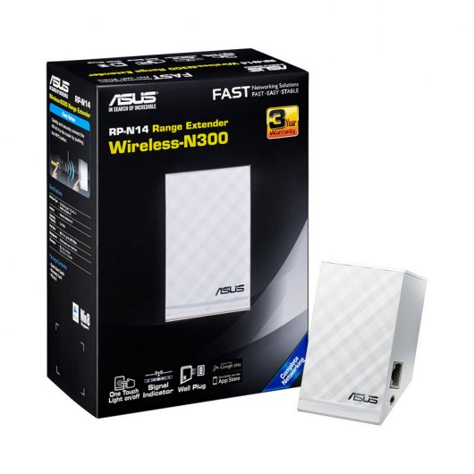 Asus RP-N14 Repetidor WiFi N300 Con Streaming de Música