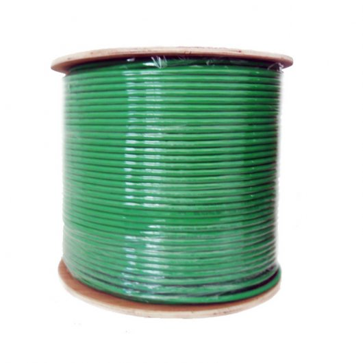 Bobina Cable FTP Cat 6 Flexible 100 Mts Verde