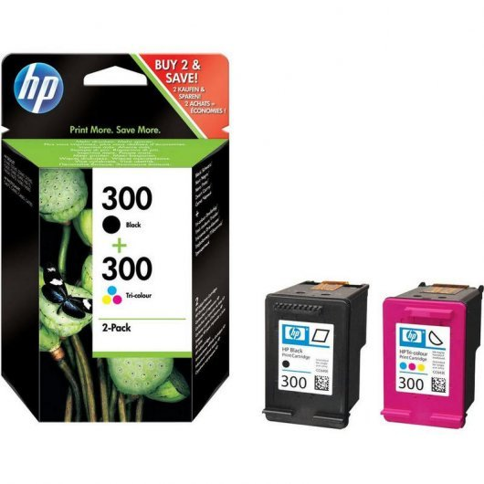 HP 300 Pack 2 Cartuchos Tinta Original Negro + Tricolor