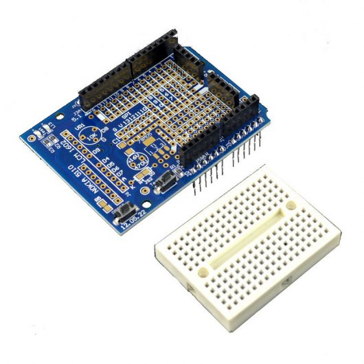 Placa Shield Con Mini Breadboard Compatible Arduino