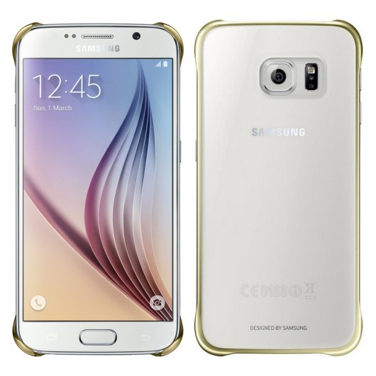 Samsung Clear Cover Dorado para Galaxy S6