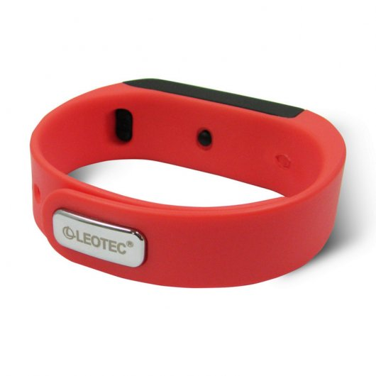 Leotec Pulsera Fitness Smart Touch Sumergible Roja