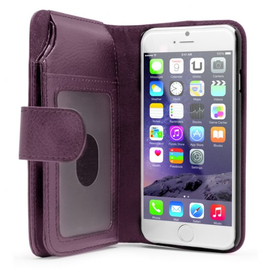 Funda Billetero Morada para Iphone 6