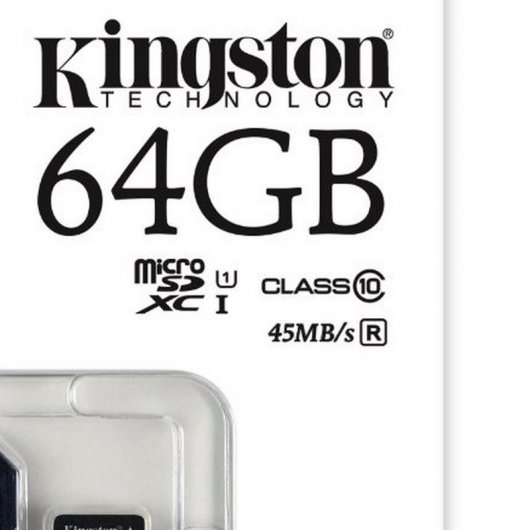 Kingston microSDXC 64GB Clase 10 UHS-I + Adaptador