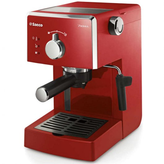 Philips Saeco Poemia HD8423 Cafetera Expreso Manual Roja