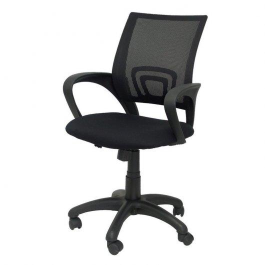 Silla para oficina dormitorio con respaldo de malla negra for Sillas negras baratas