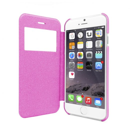 Funda Flip-S Rosa para iPhone 6/6S Plus