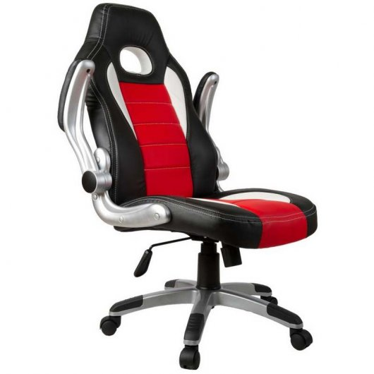 Silla Racing Sports Negra/Roja Reacondicionado