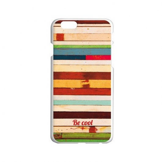 BeCool Funda Patchwork Wood para iPhone6/6S