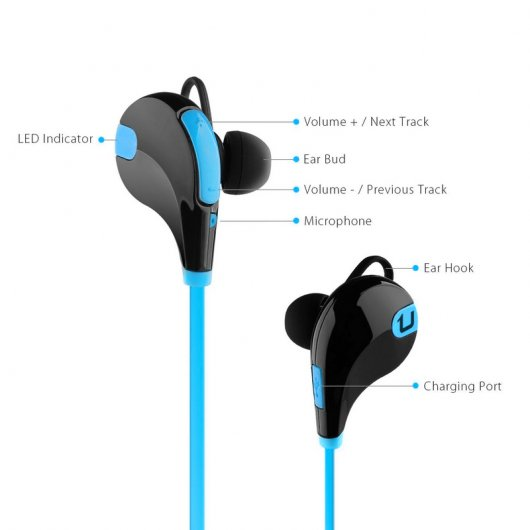 Unotec LB-Run Auricular Bluetooth Azul