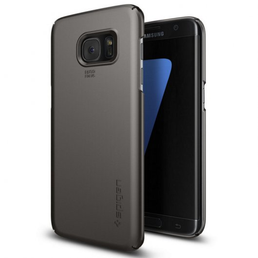 Spigen Funda Thin Fit Gunmetal para Samsung Galaxy S7 Edge