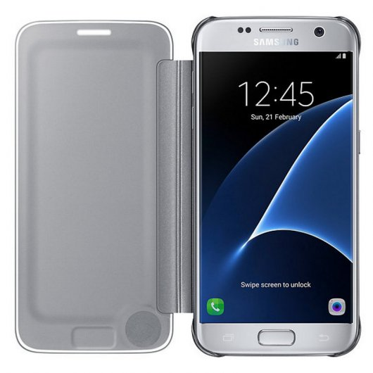 Samsung Clear View Cover Gris para Galaxy S7