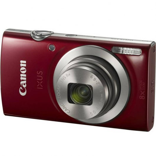 Canon Ixus 175 20MP Roja + Funda + SD 8GB
