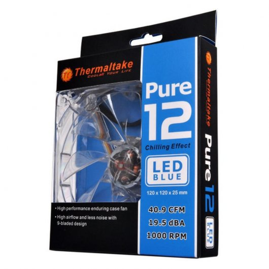 Thermaltake Pure 12 LED DC Fan Azul